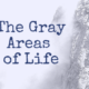 The Gray Areas of Life
